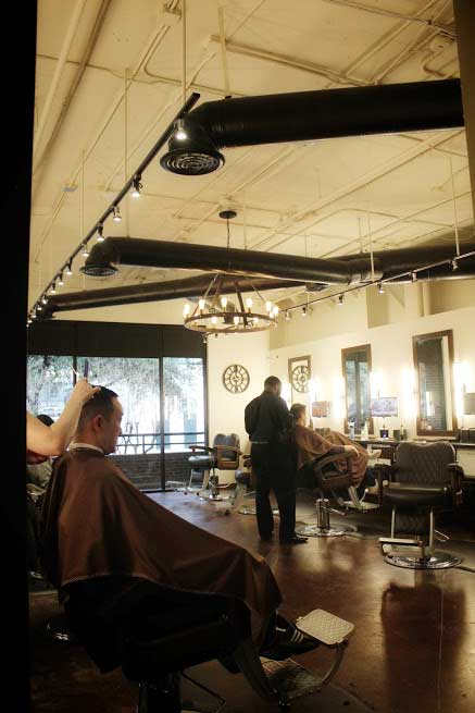 barbers chairs The Gents Place Uptown Dallas