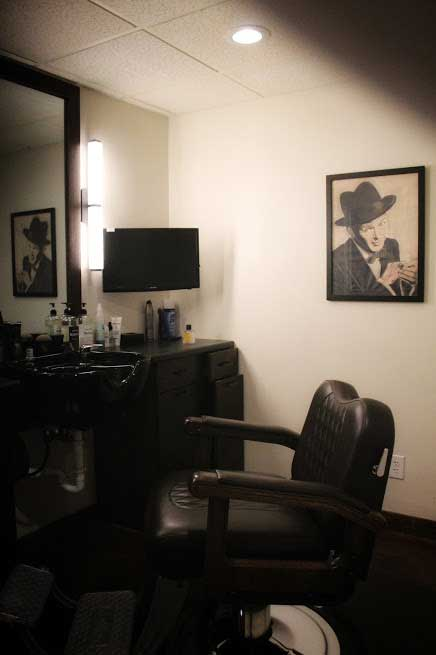 Private barber chair The Gents Place Uptown Dallas